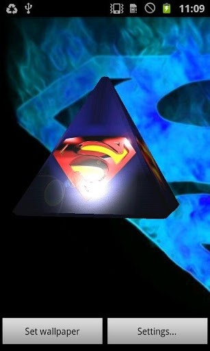 superman 3d live wallpaper is an interactive wallpaper app about one 307x512