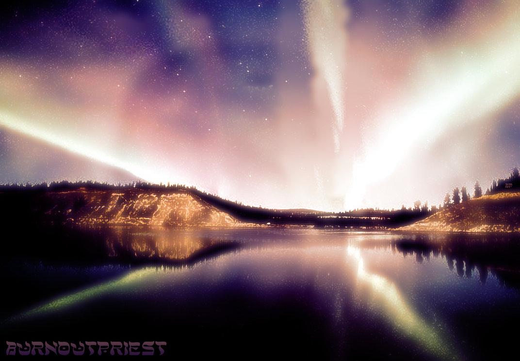 Northern Lights Background by BurnoutPriest on DeviantArt