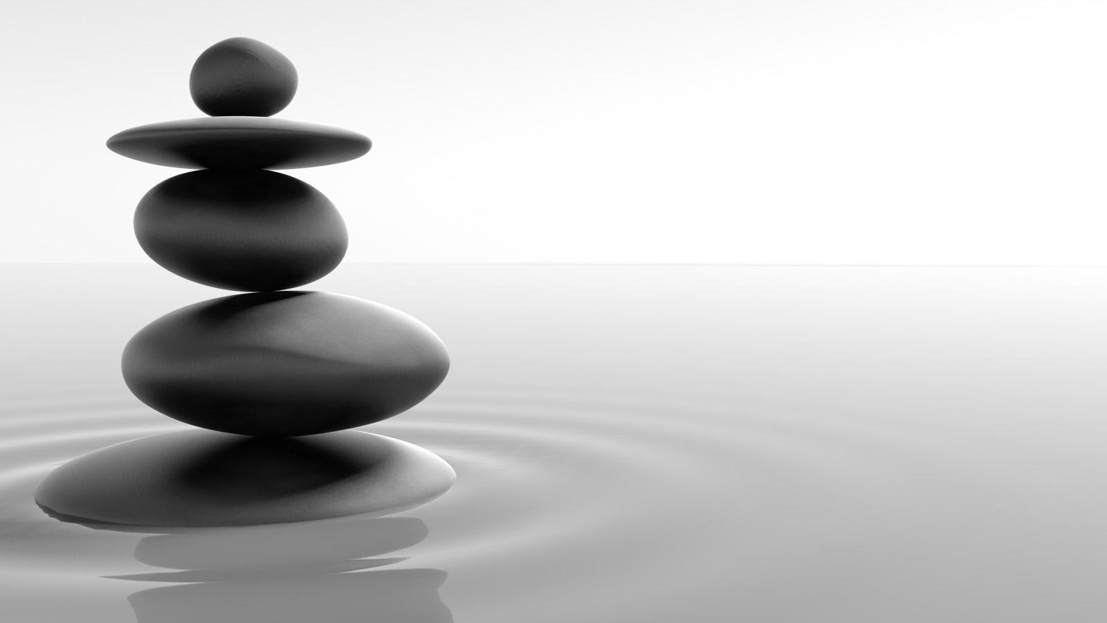 zen tao stones wallpaper balance peace 1600x900