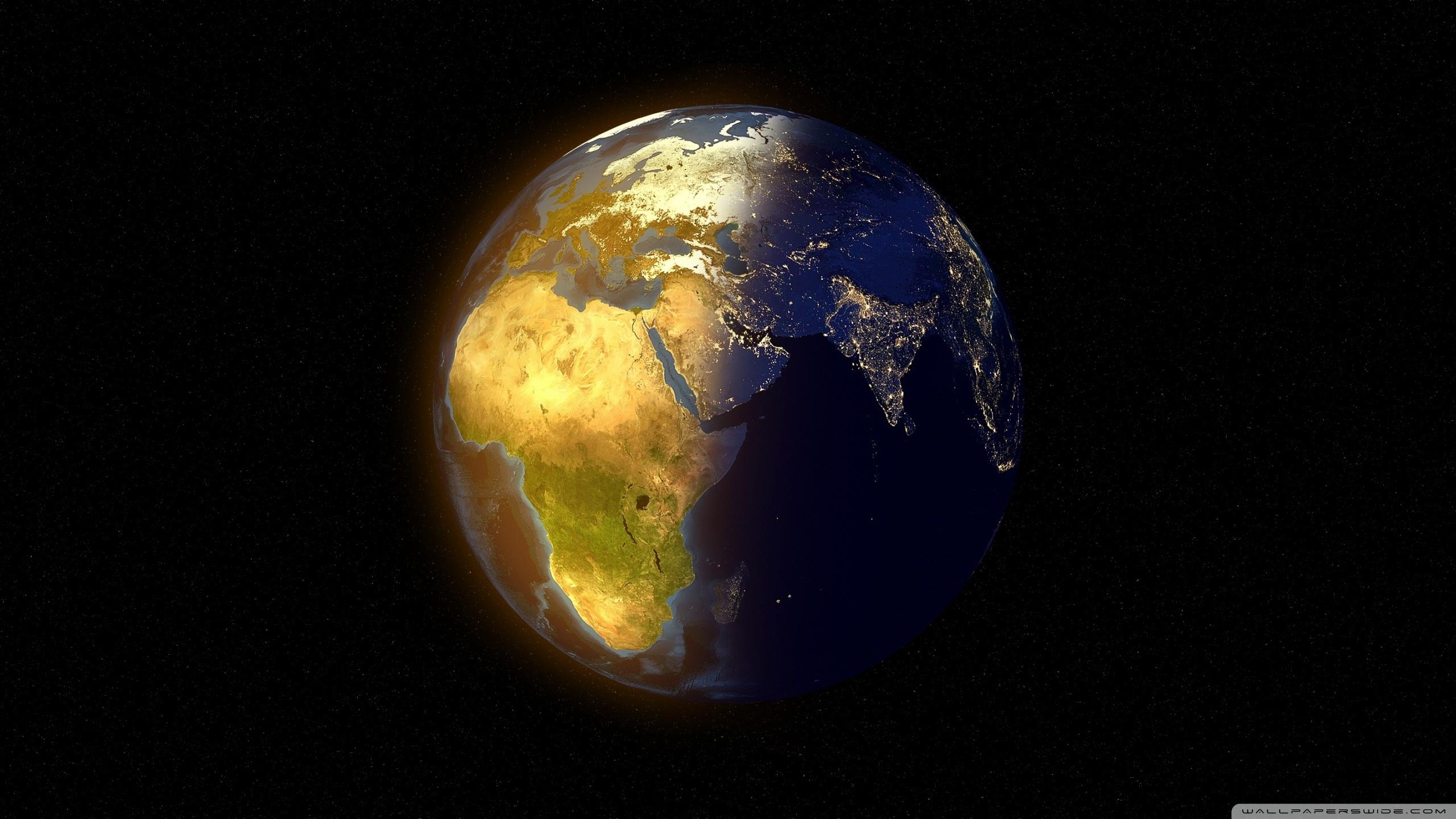 Earth Day and Night 4K HD Desktop Wallpaper for 4K Ultra HD TV 2560x1440