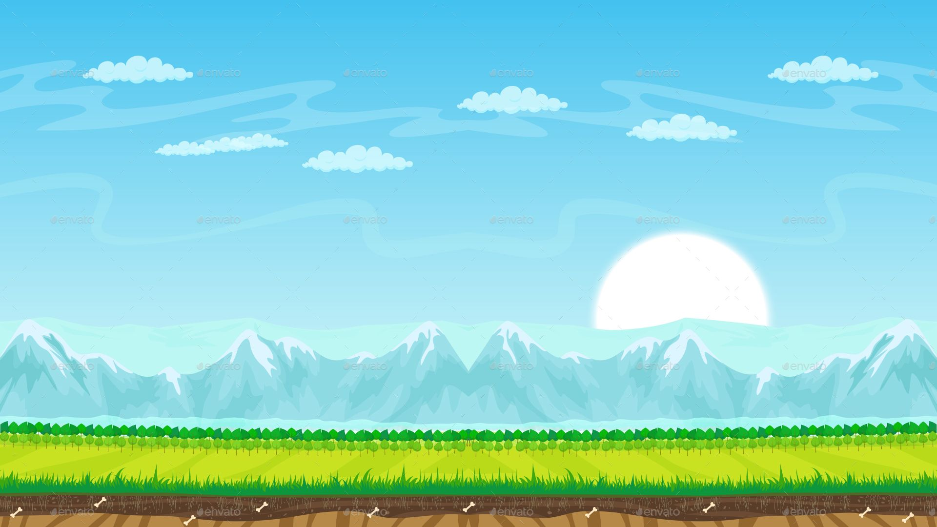 2D Parallax Backgrounds Animation background Background New 1920x1080