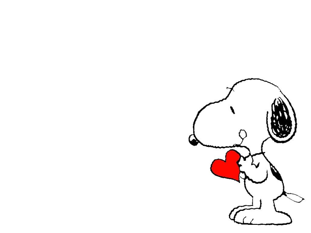 Wallpaper Snoopy con uncorazon en su patita 1024x768