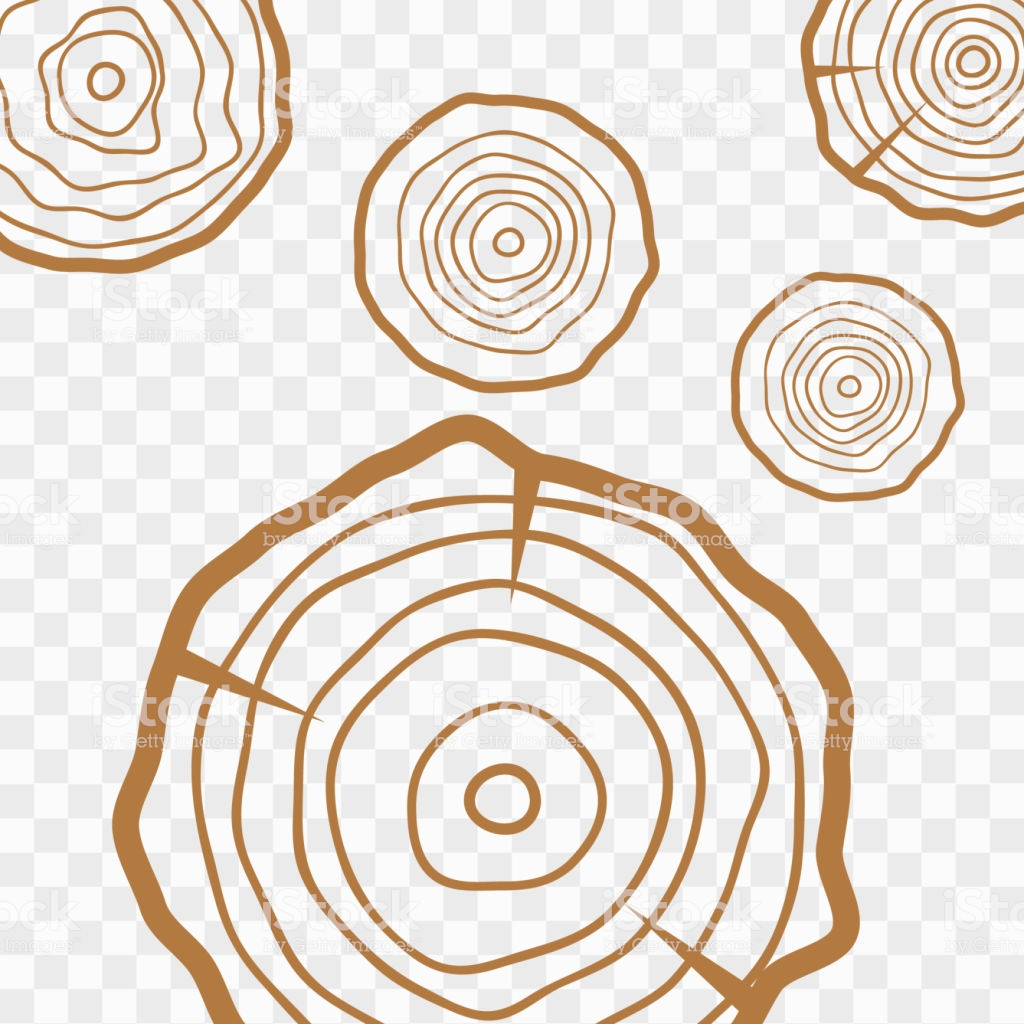 Tree Rings Background Abstract Age Annual Circle Tree Vector Stock 1024x1024