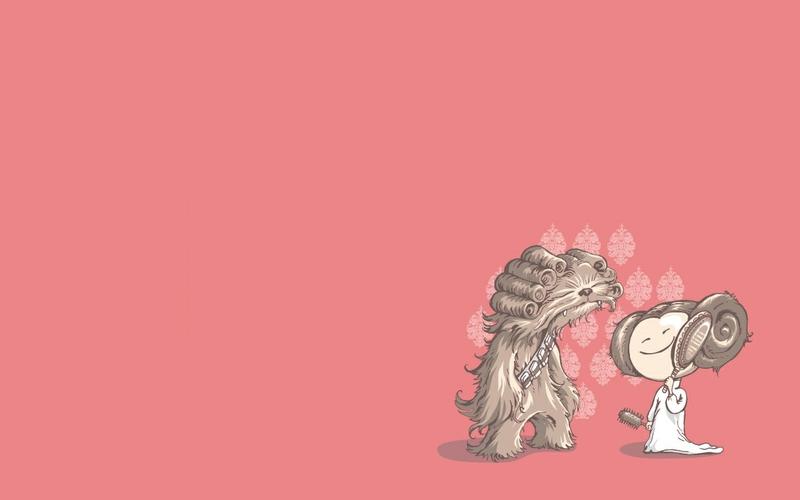 star wars chewbacca leia organa 1280x800 wallpaper Video Games Star 800x500