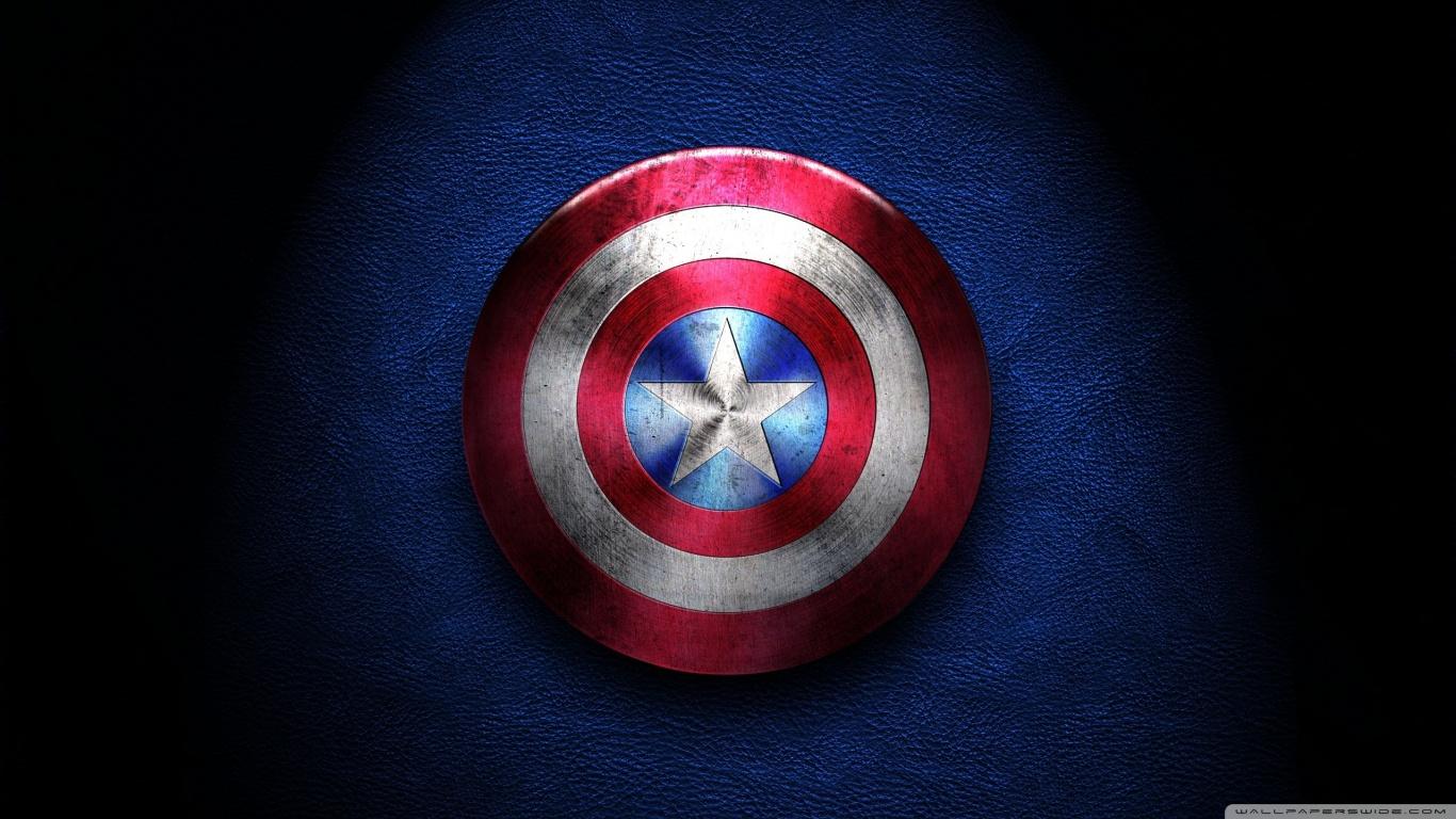 Captain America Shield 4K HD Desktop Wallpaper for 4K Ultra HD 1366x768