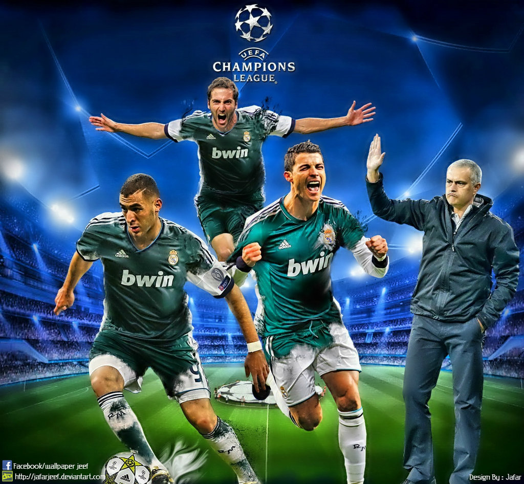 Real Madrid Champions League Wallpaper 2013 by jafarjeef 1024x946