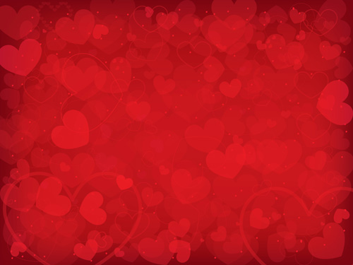 Romantic heart Valentine background vector 01   Vector Background 500x375