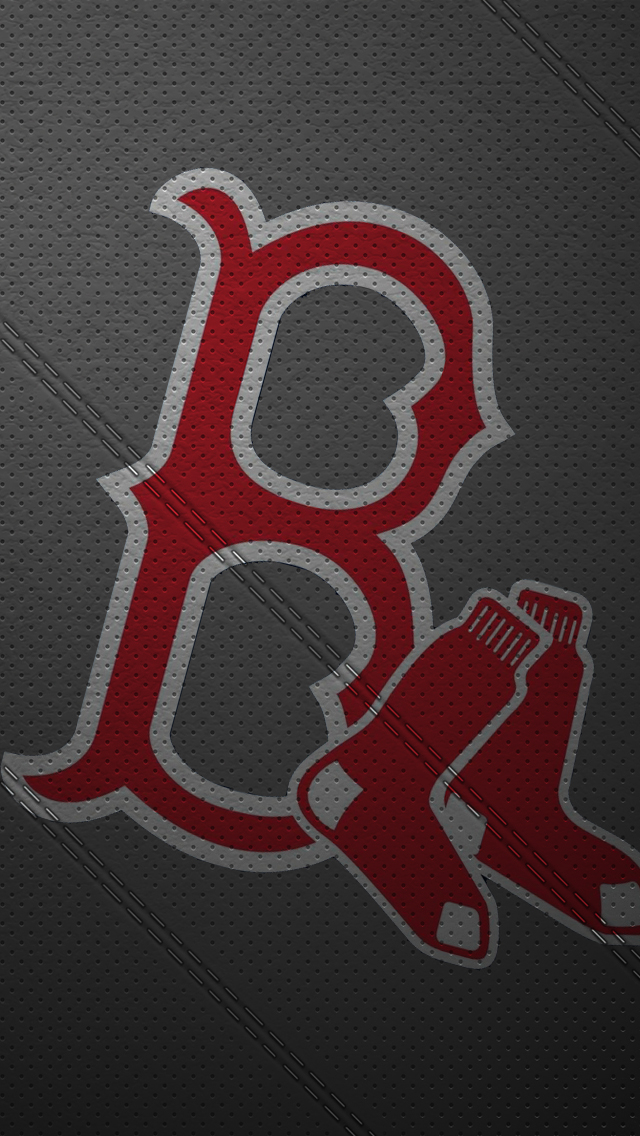 Red Sox Wallpaper Iphone 5 Leather 640x1136