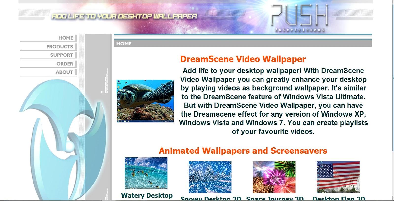 50 Push Entertainment Dreamscene Video Wallpaper On