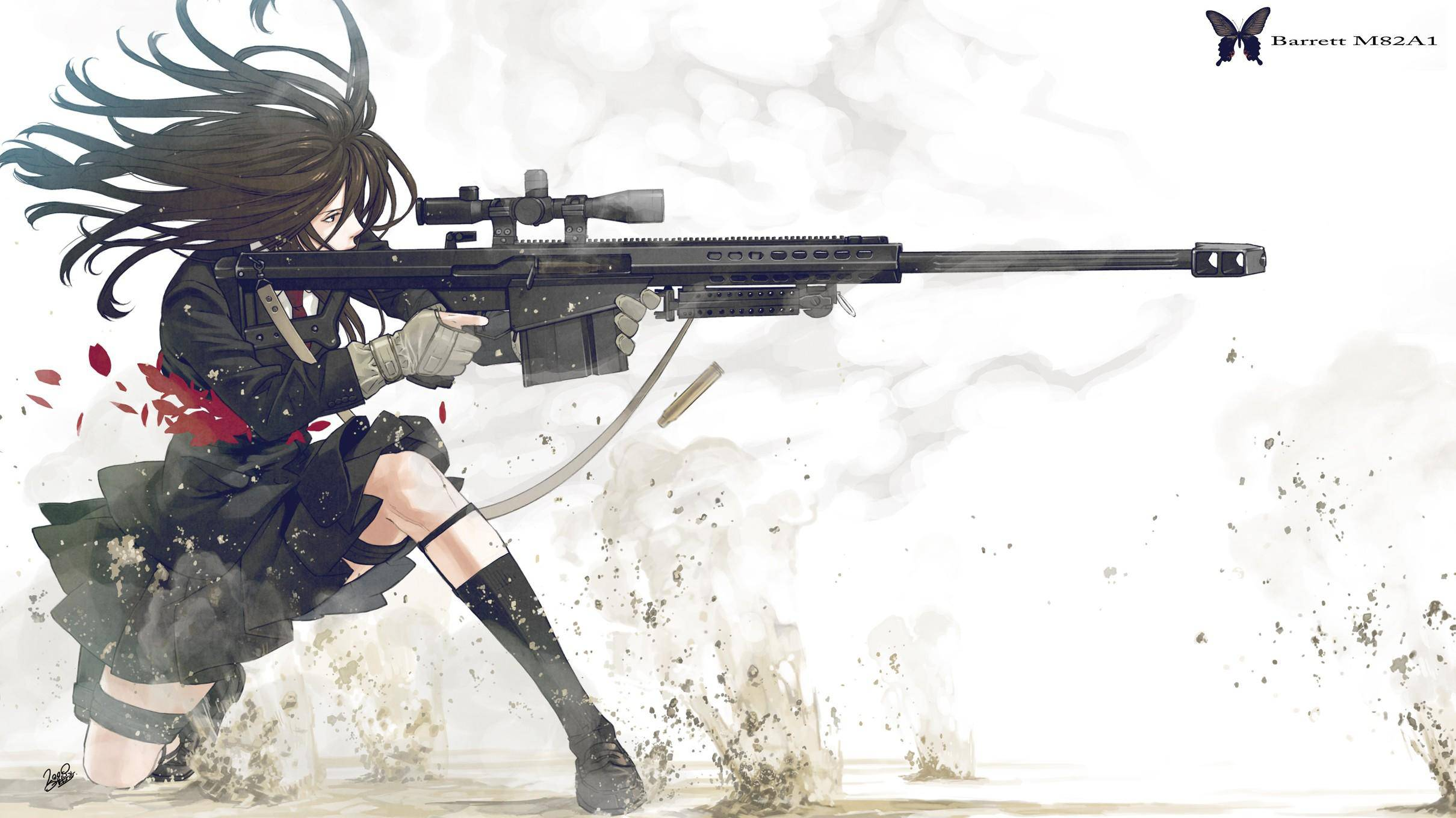 Girl with gun wallpaper wallpapersafari - Gun girl anime ...