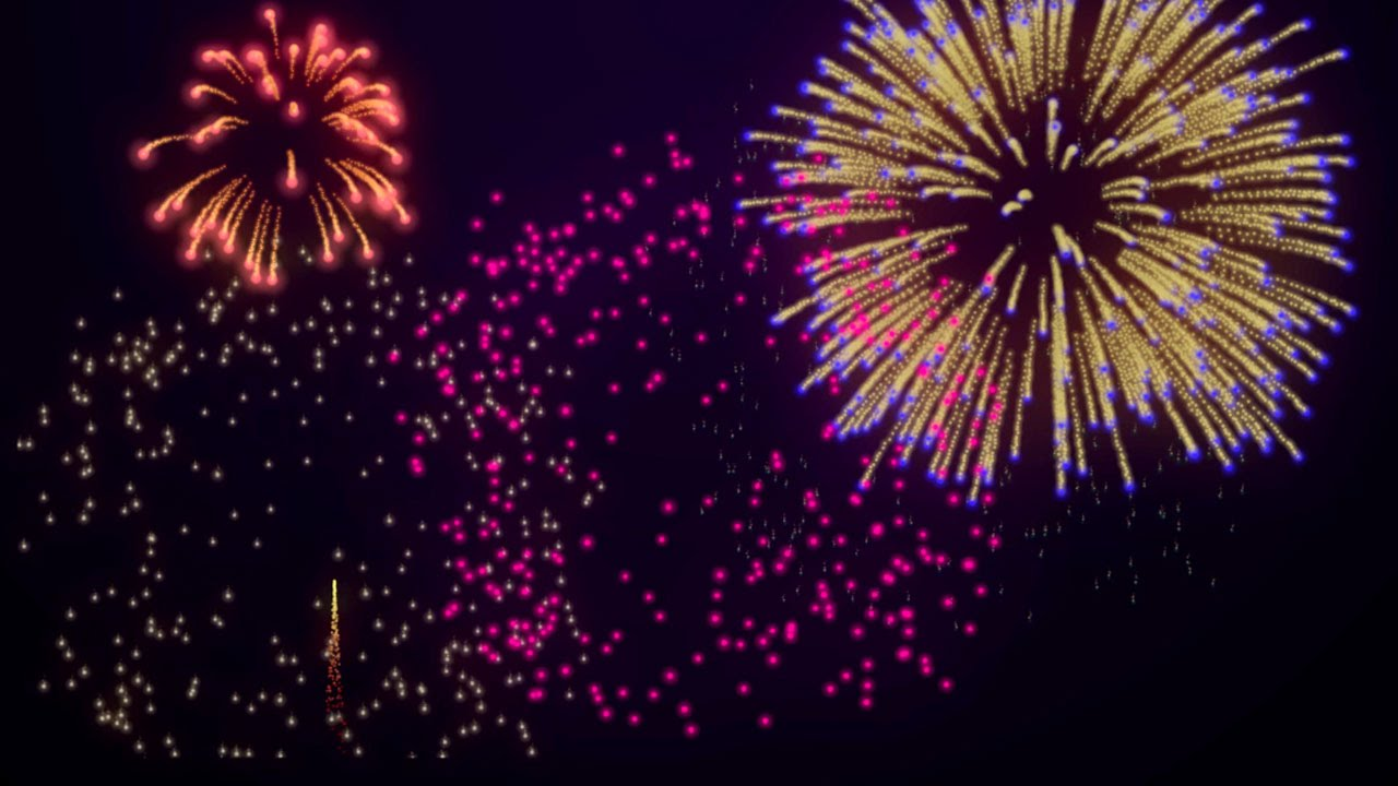 Fireworks Background Loop for New Years 4th of July 1280x720
