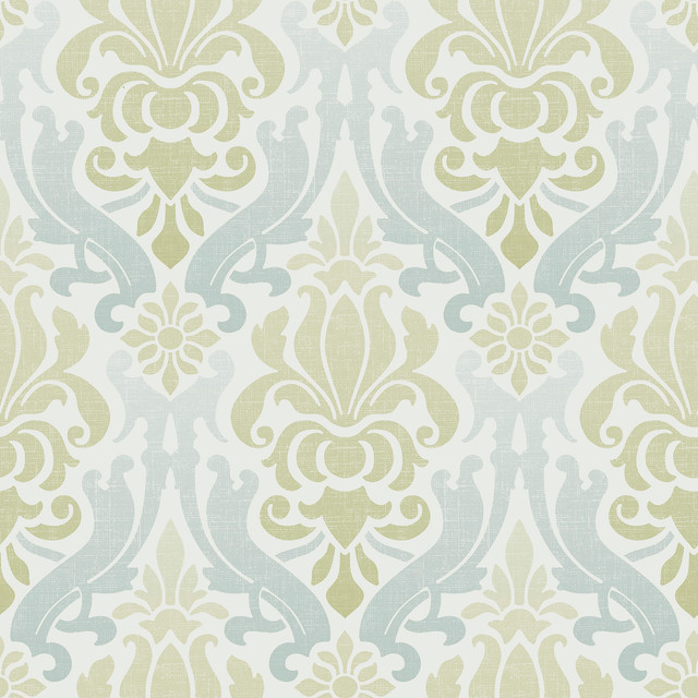 Damask Peel and Stick Wallpaper Taupe 4 Rolls transitional wallpaper 640x640