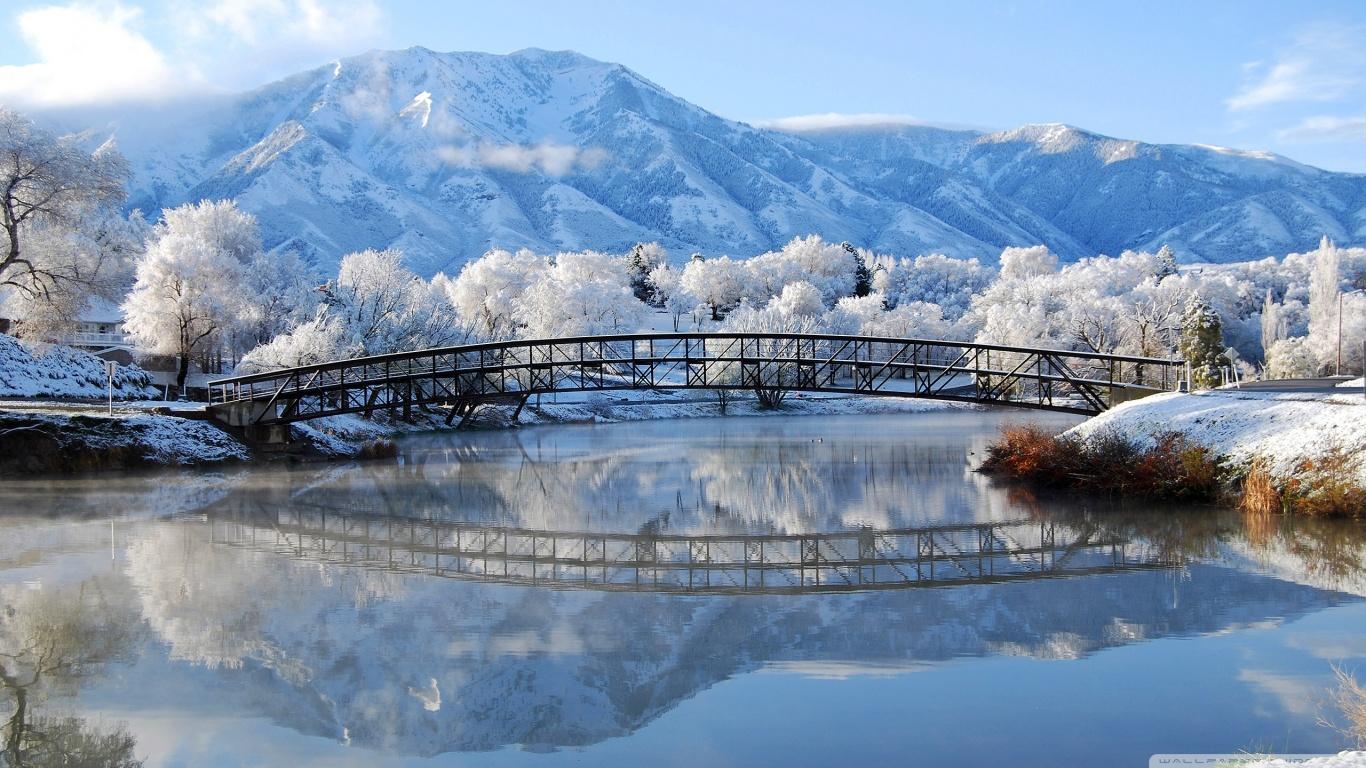 Beautiful Winter Scene 4K HD Desktop Wallpaper for 4K Ultra HD 1366x768