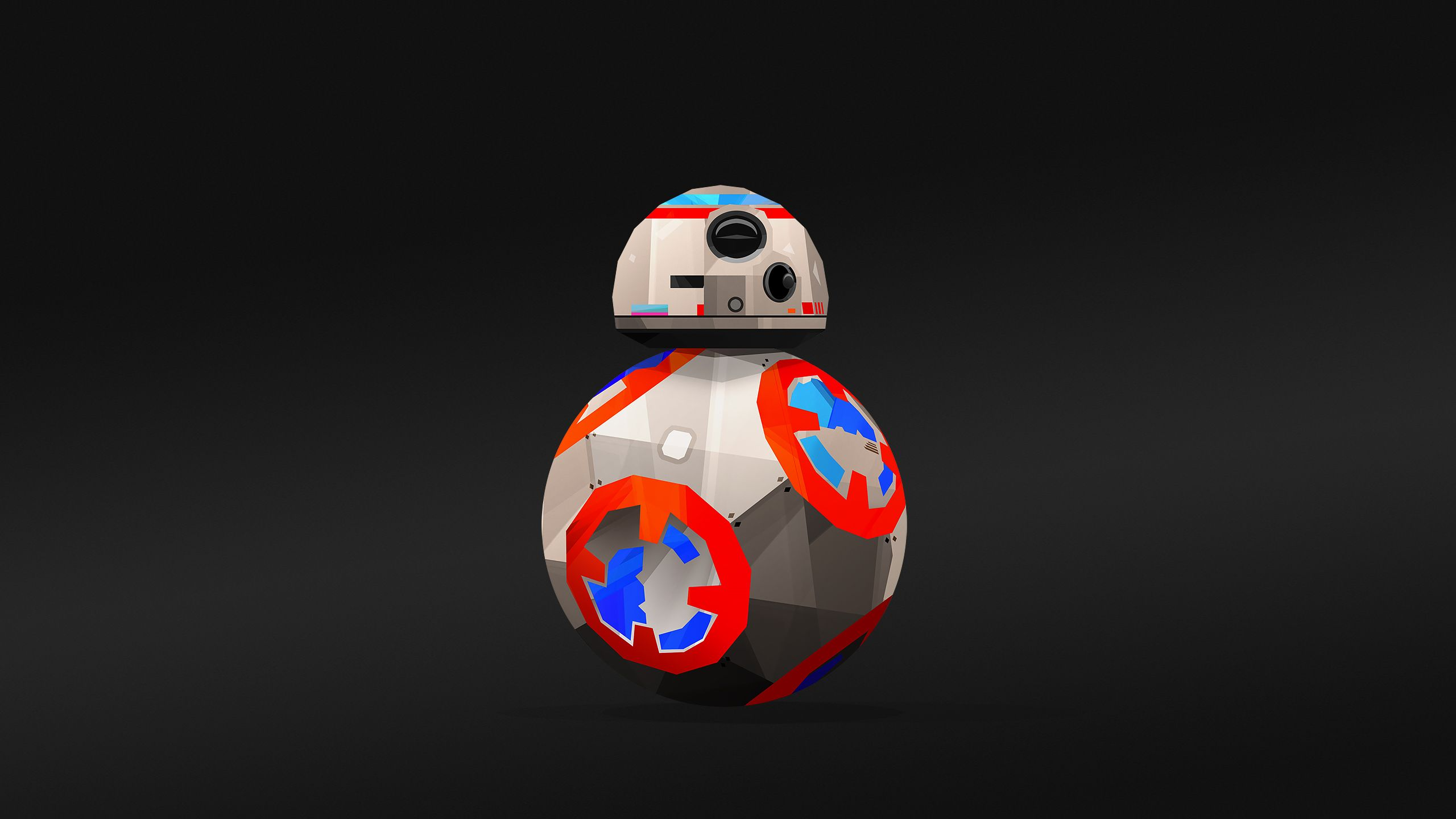 Bb8 Starwars Abstract Robot Art Star wars art Star wars 2560x1440