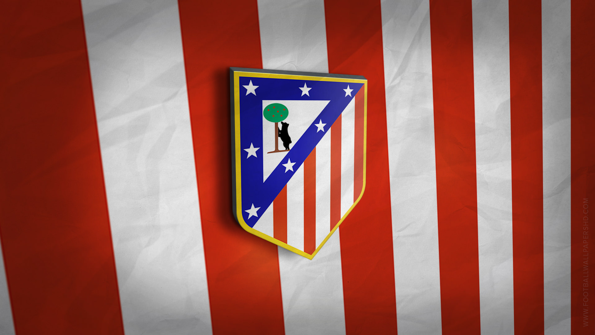 Atletico Madrid 3D Logo Wallpaper Football Wallpapers HD 1920x1080