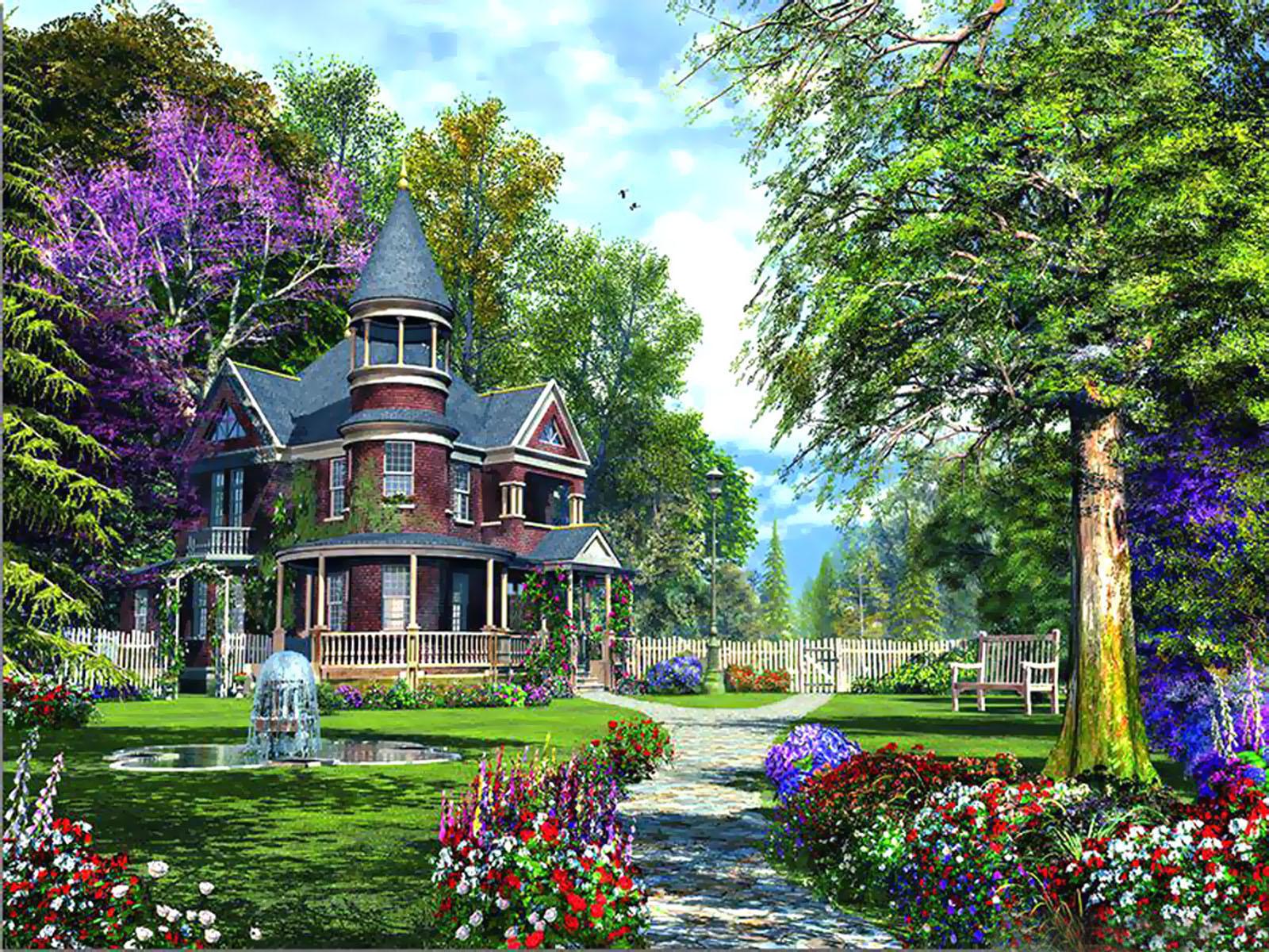 Flower garden wallpaper background - Wallpapers Fair Luxurious Flower Garden Hd Widescreen Wallpaper