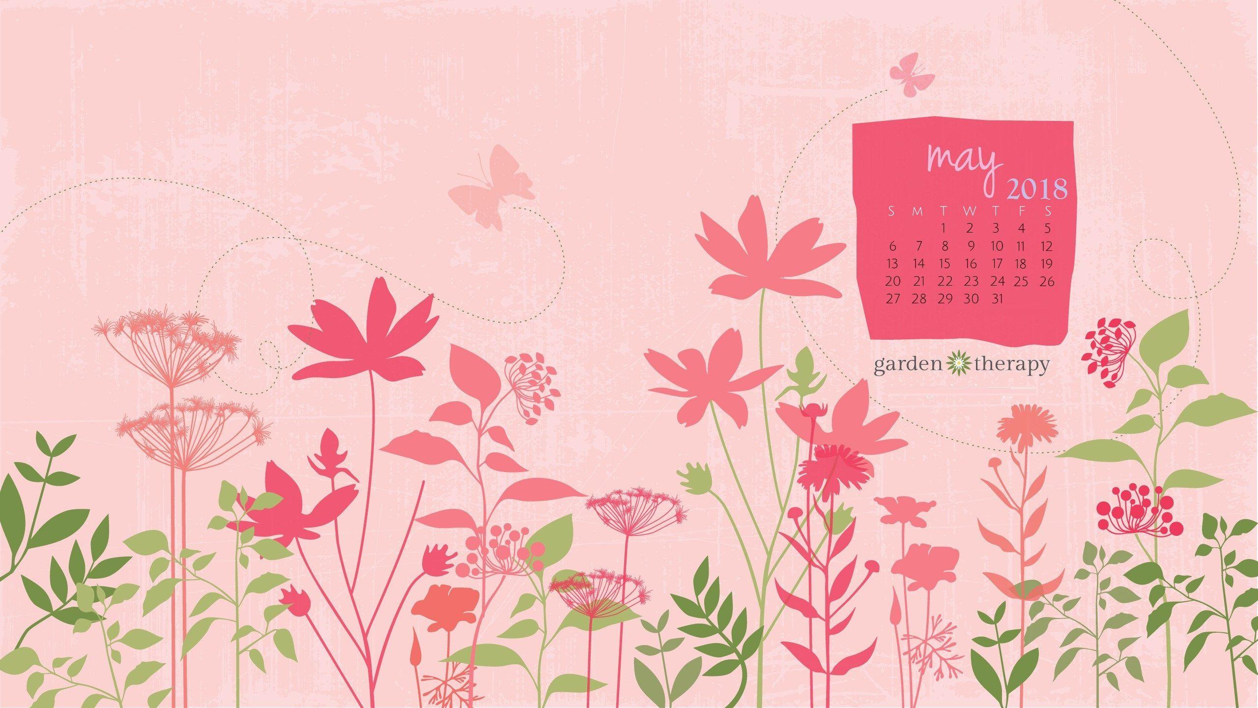 Garden Therapy May 2018 Desktop Calendar 2560x1440 MaxCalendars 2560x1440