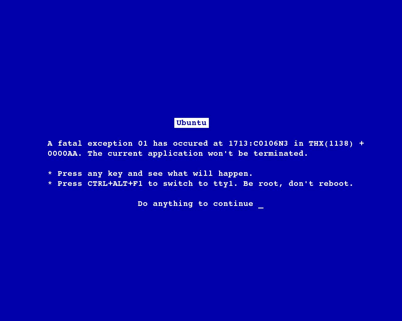 Blue Screen of Death   Wallpaper 42420 1280x1024