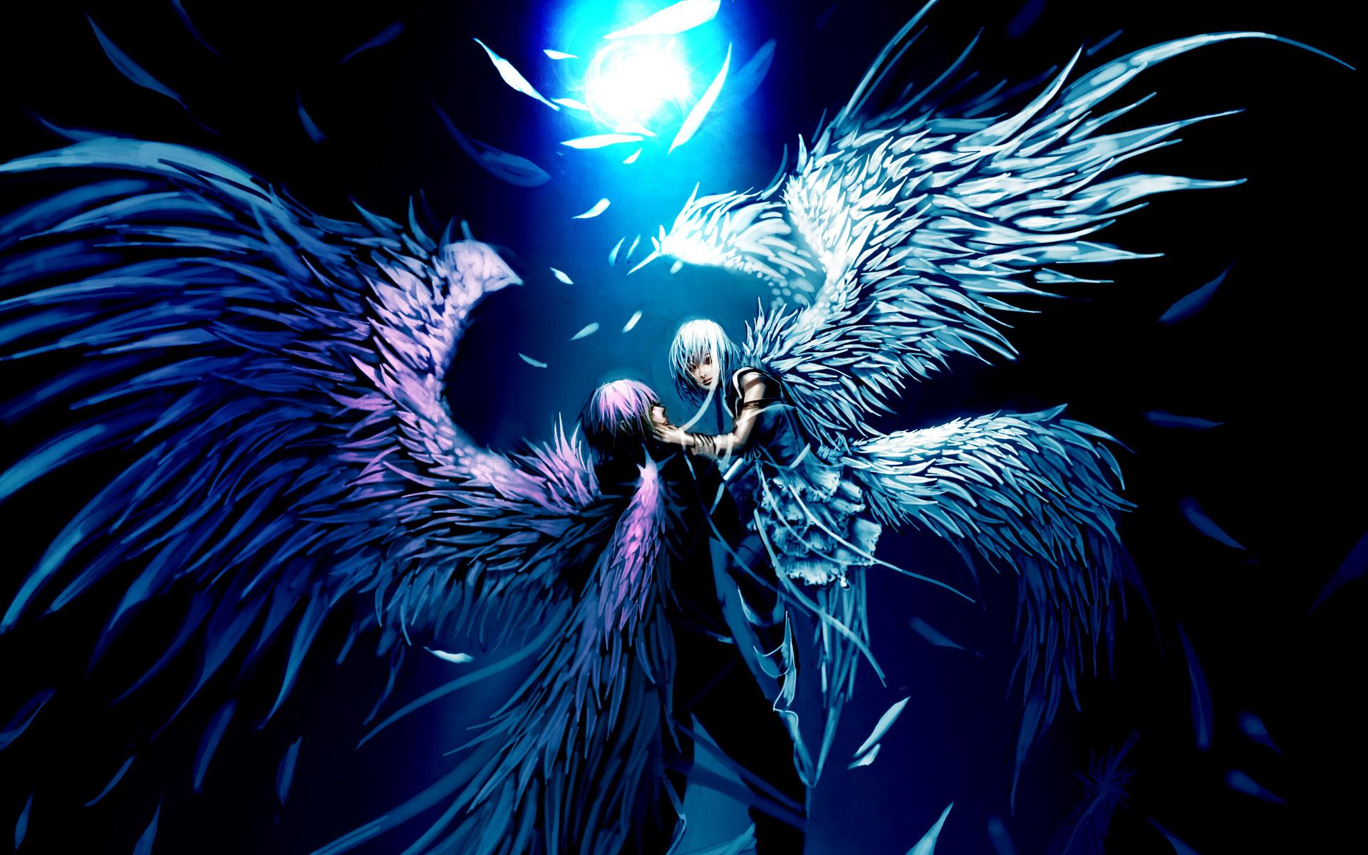 genki de deviantart com anime angels fantasy wings love romance mood 1920x1200