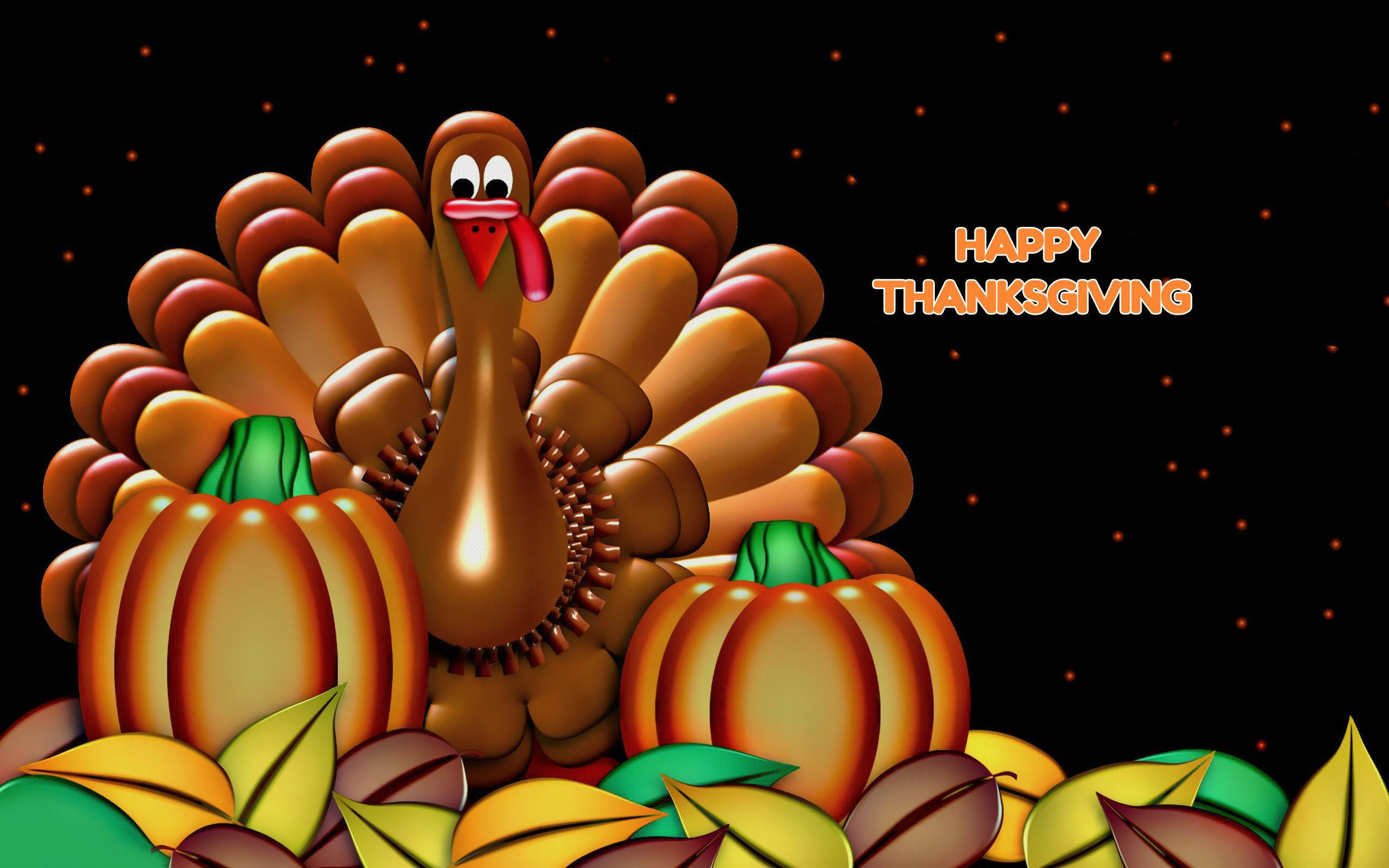 3D Thanksgiving Wallpapers HD 2560x1600