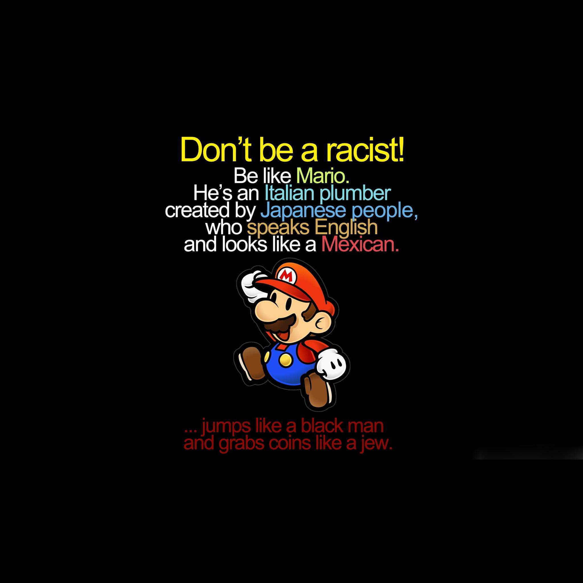 Mario funny iPad Air Wallpapers Download 2048x2048