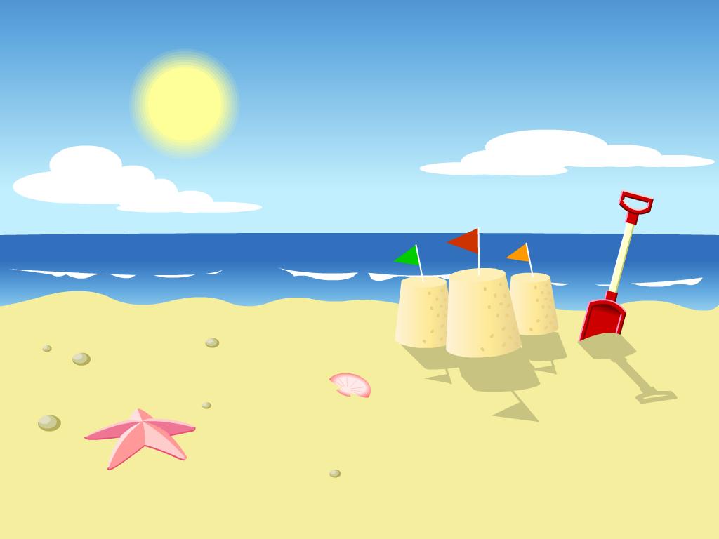 Cartoon summer vacation HD wallpaper Picture Kids wallpaper 1024x768