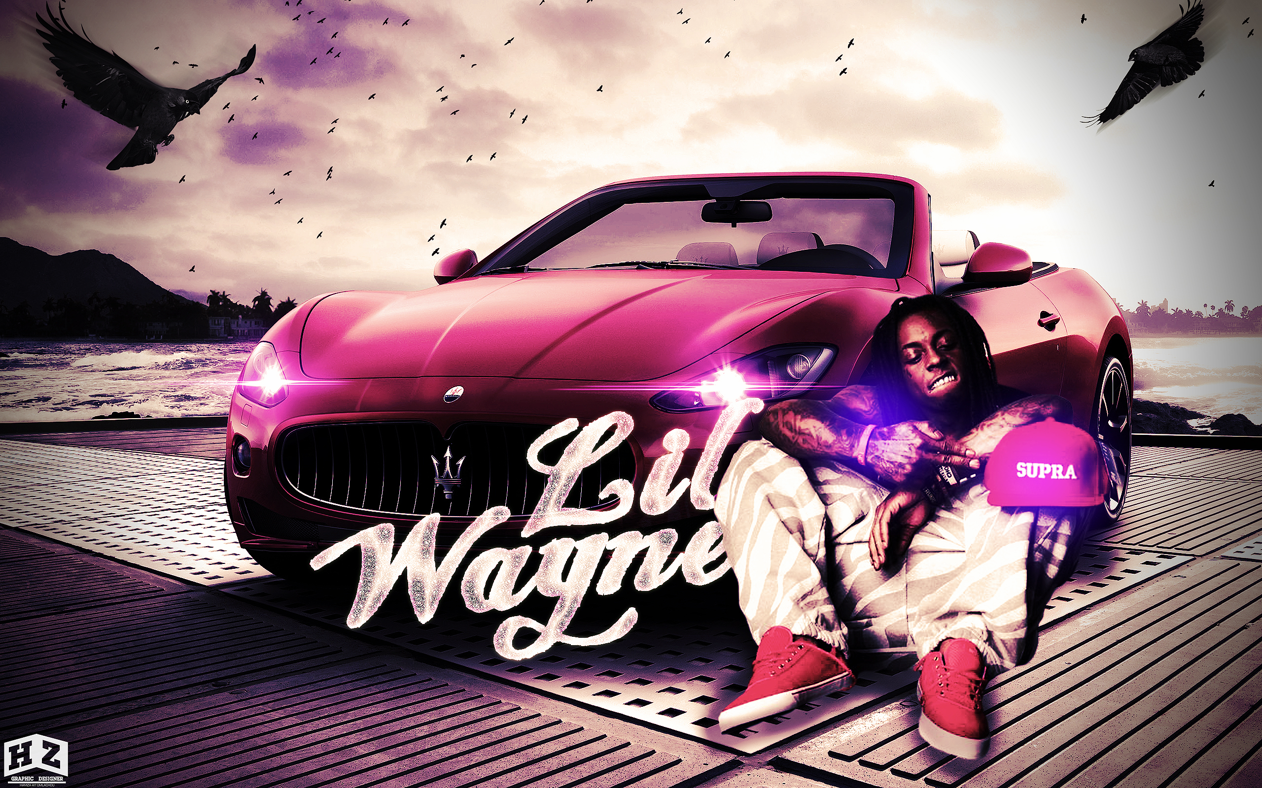 Lil Wayne Ferrarri Rap Wallpapers 2560x1600