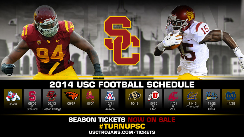 2014 USC Football Schedule   USC Trojans 836x470