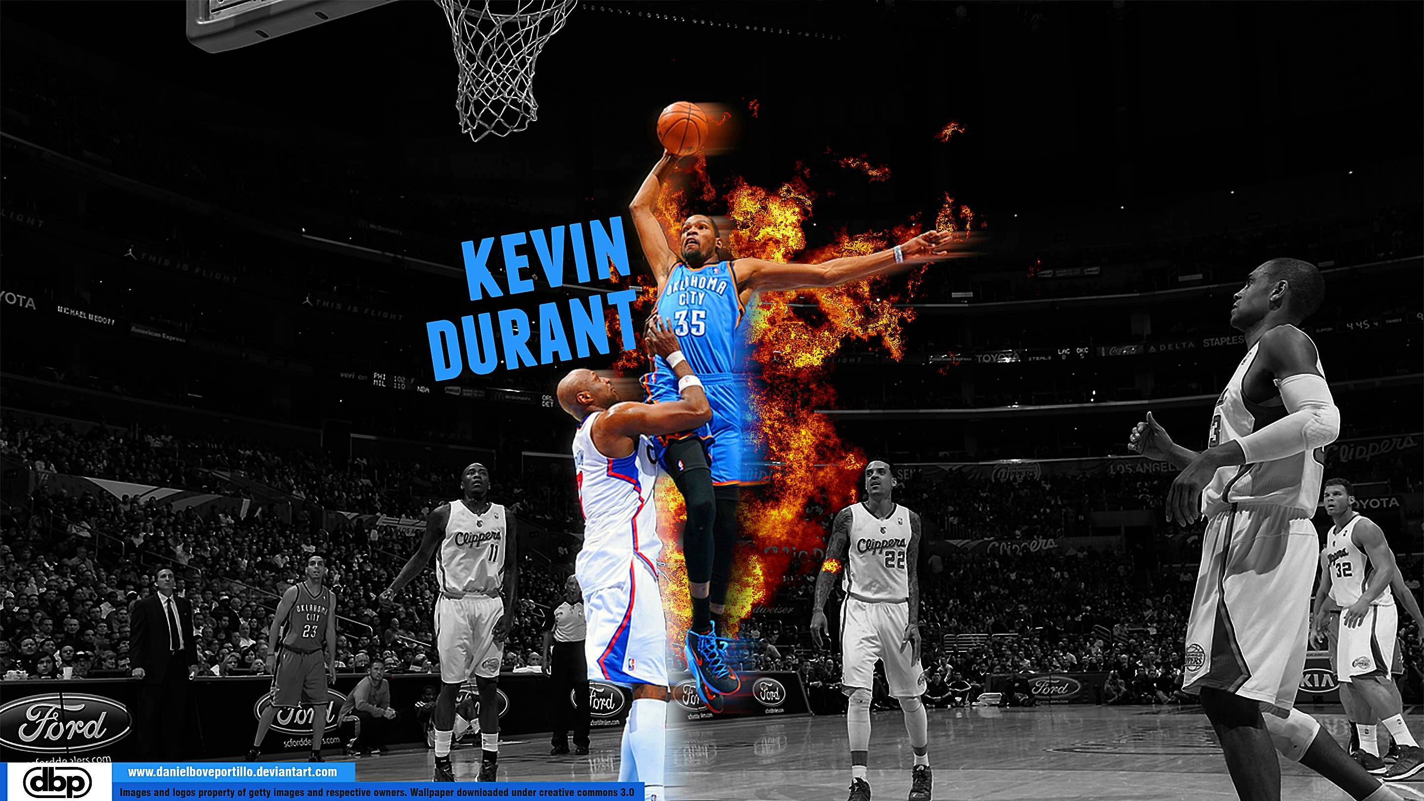 Kevin Durant Dunk Wallpapers 2016 2885x1623