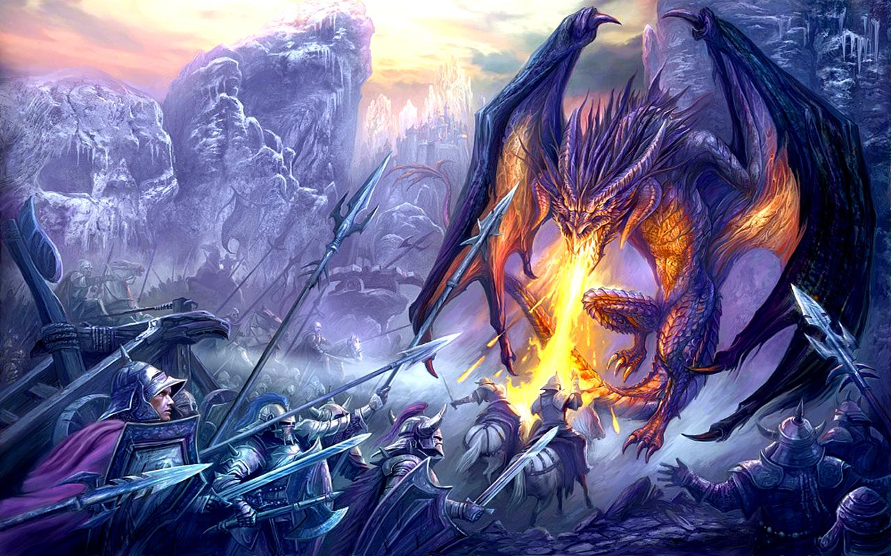 Fire Dragon Wallpaper 1280x800