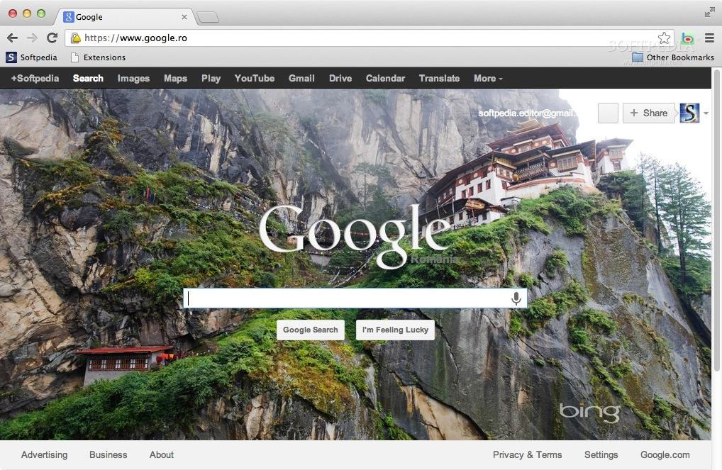 Screenshot 1 of Bing wallpaper for Google homepage 1018x663