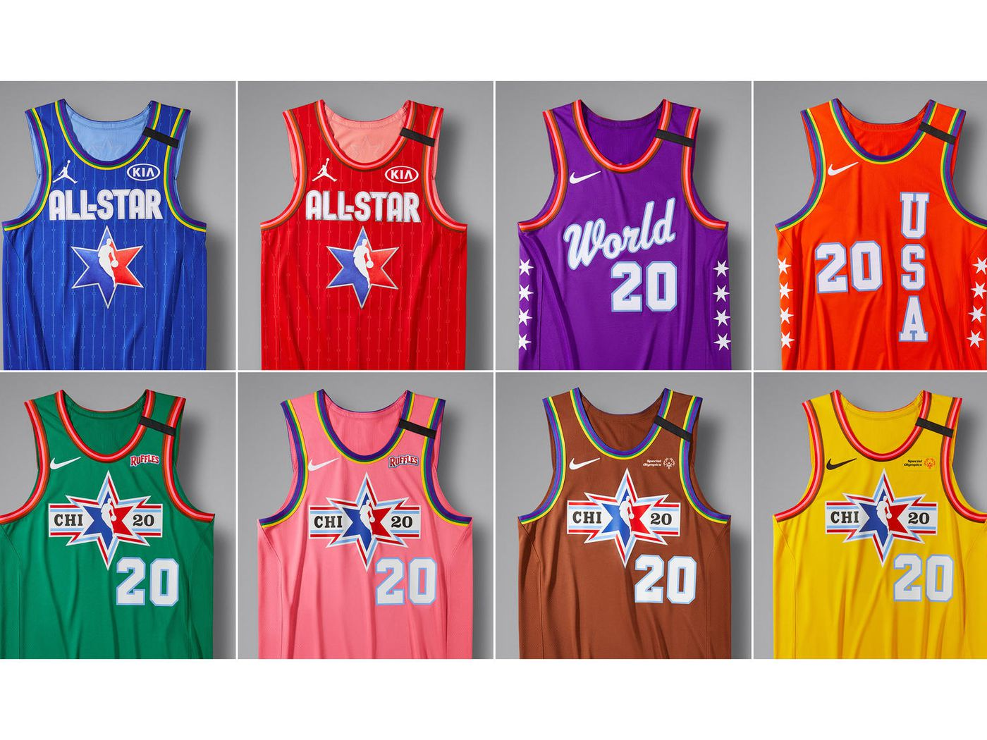 NBA All Star 2020 The 8 different jerseys colors youll see in 1400x1050