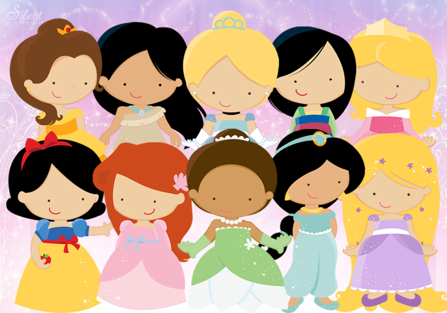 Disney Princesses   Cute by SilentMermaid21 900x630
