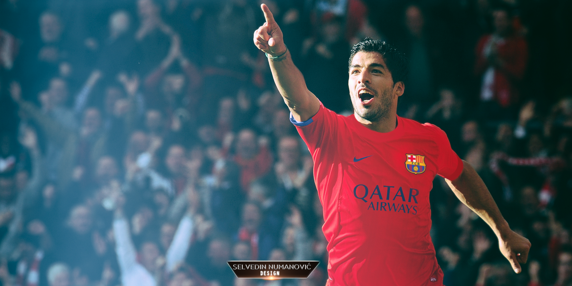 Luis Suarez FC Barcelona 201415 wallpaper by SelvedinFCB on 2000x1000