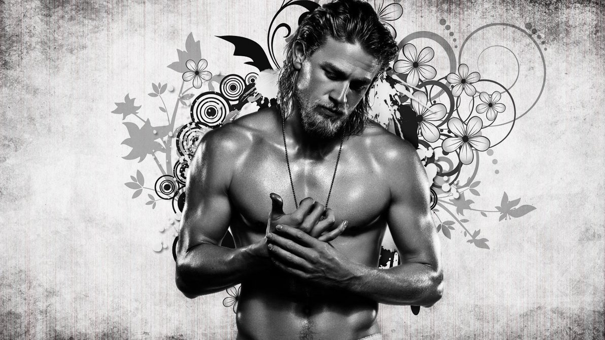 Charlie Hunnam wallpaper BW by aranel80 1192x670