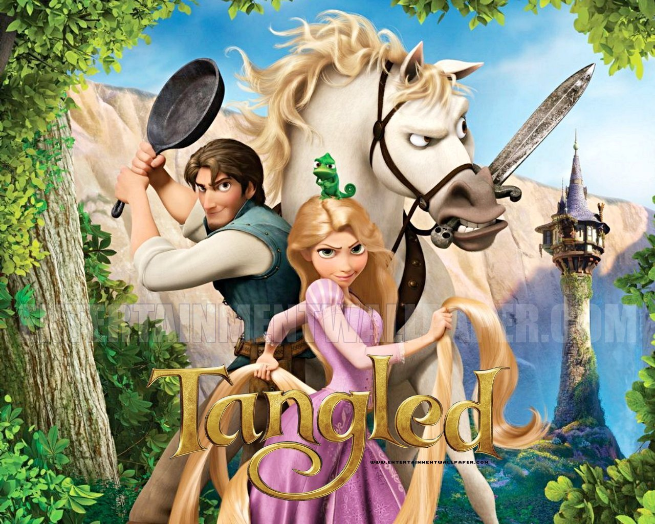 Tangled Disney Wallpaper   Princess Rapunzel from Tangled Wallpaper 1280x1024