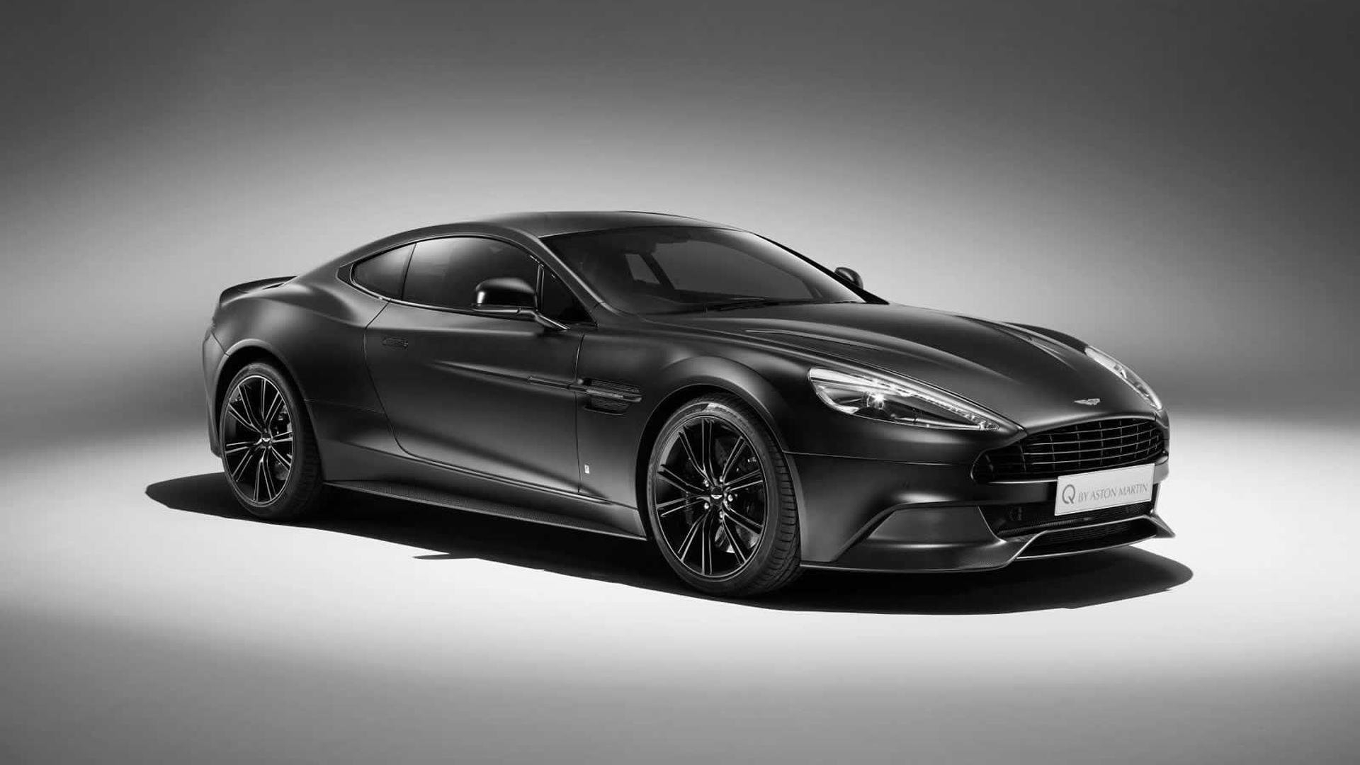 Q by Aston Martin prepares Satin Jet Black Vanquish Coupe 1920x1080