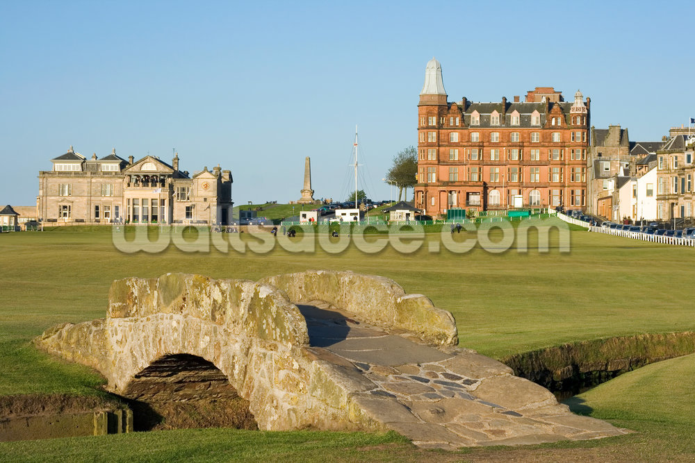 The famous Swilcan bridge on St Andrews Old Course Mural 1000x667