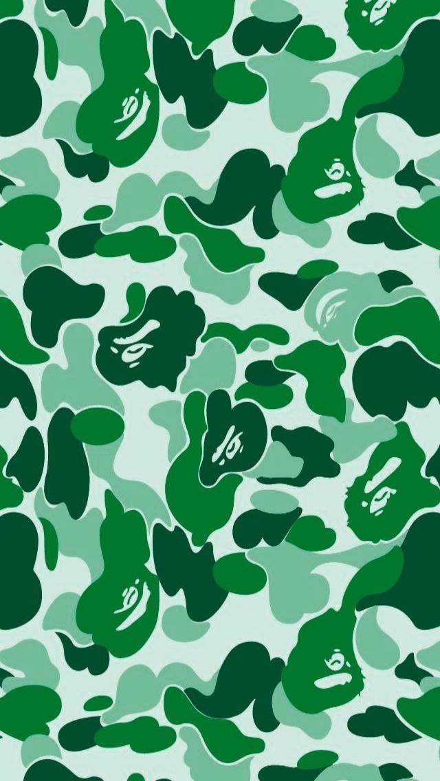Bape Wallpaper Bape green 640x1136