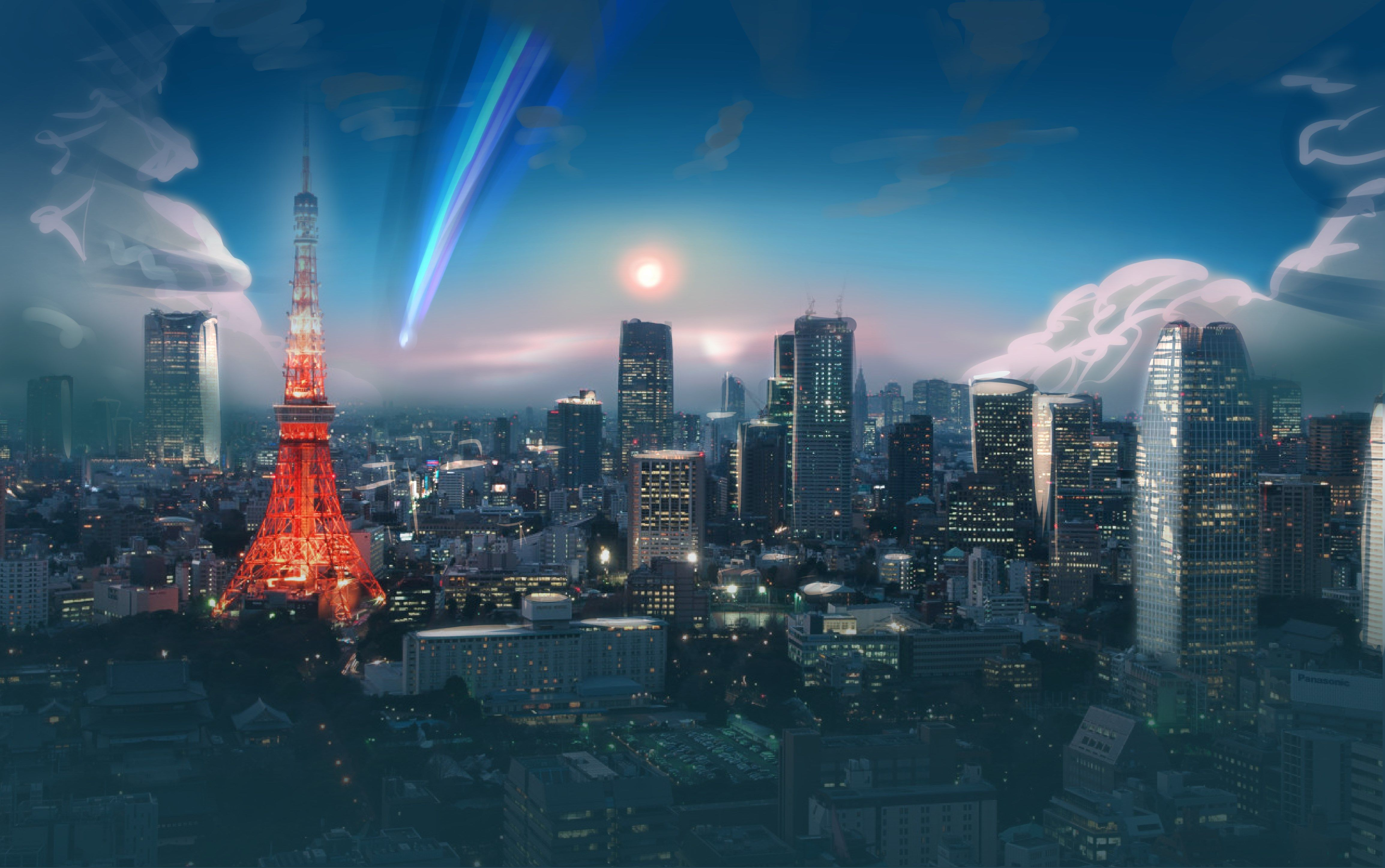 your name 4k wallpaper 4616x2894 Anime city Tokyo city Japan 4616x2894