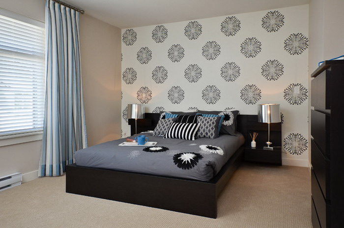 Decor With Simple Wallpaper Designs In Contemporary Bedroom Wallpaper 700x464