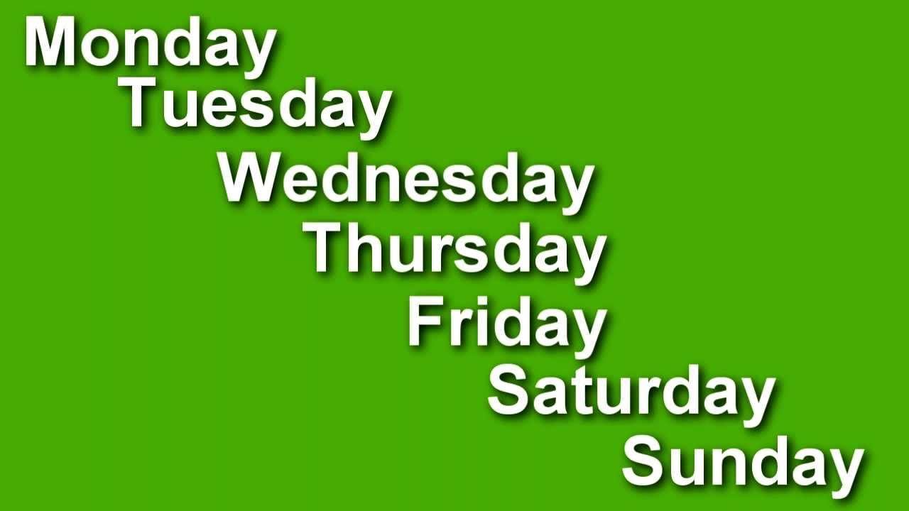 38] Days of the Week Wallpaper on WallpaperSafari 1280x720
