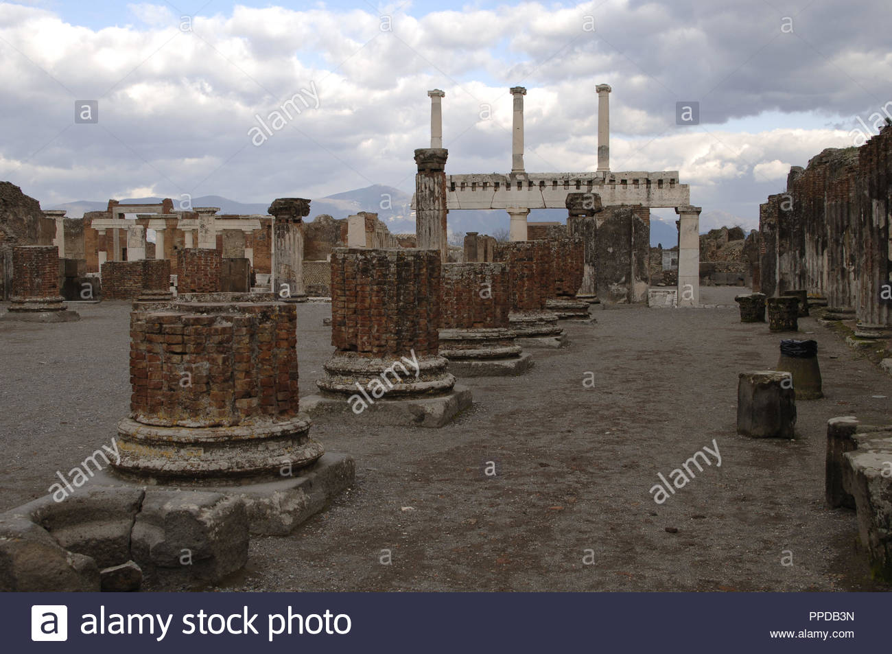 Italy Pompeii Ruins of the Basilica late 2nd century BC In 1300x953