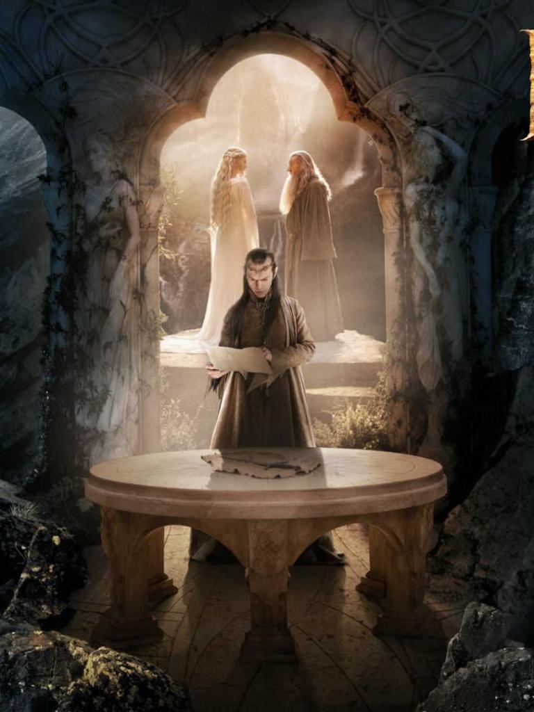 768x1024 The Hobbit   Elrond Ipad wallpaper 768x1024