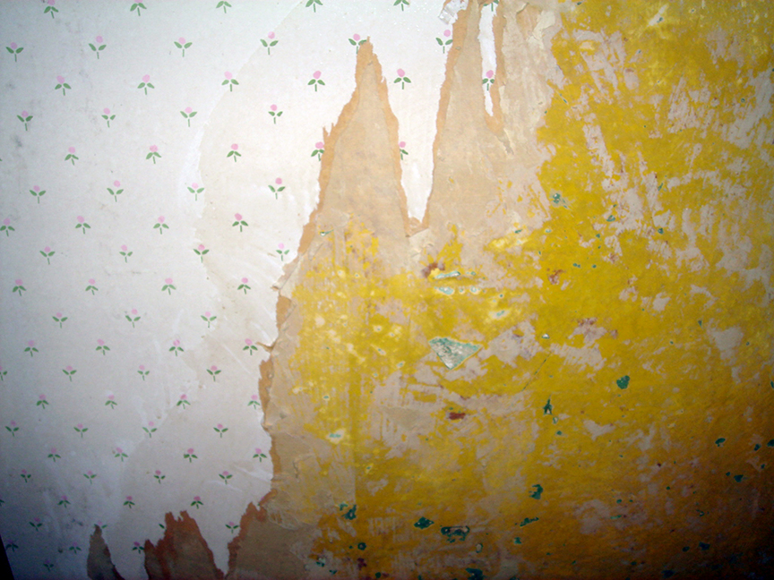 Renovation   Wallpaper Removal   Drywall Mud Used as Spackle The 864x648