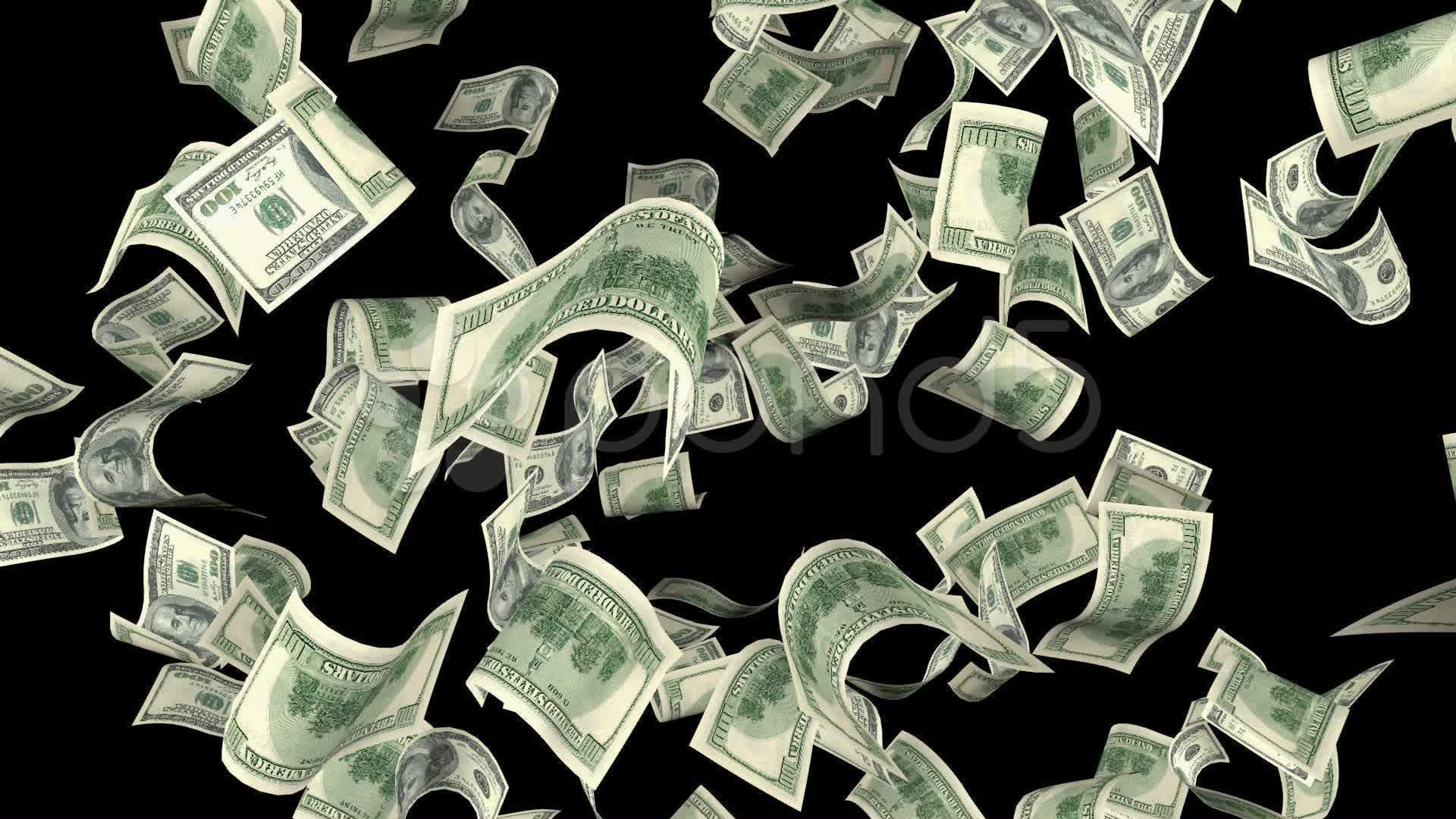 Time Freez Money On A Black Background Stock Video 22131624 HD Stock 1920x1080