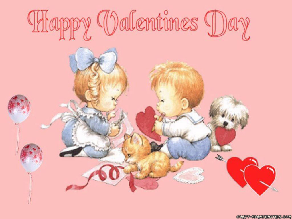 Couple Baby Valentines Day Picture   Happy Valentine Day Image For 1024x768