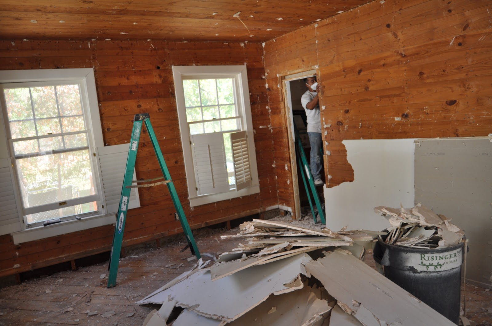 Most of the house had 12 drywall over the original ship lap 1x8 pine 1600x1062