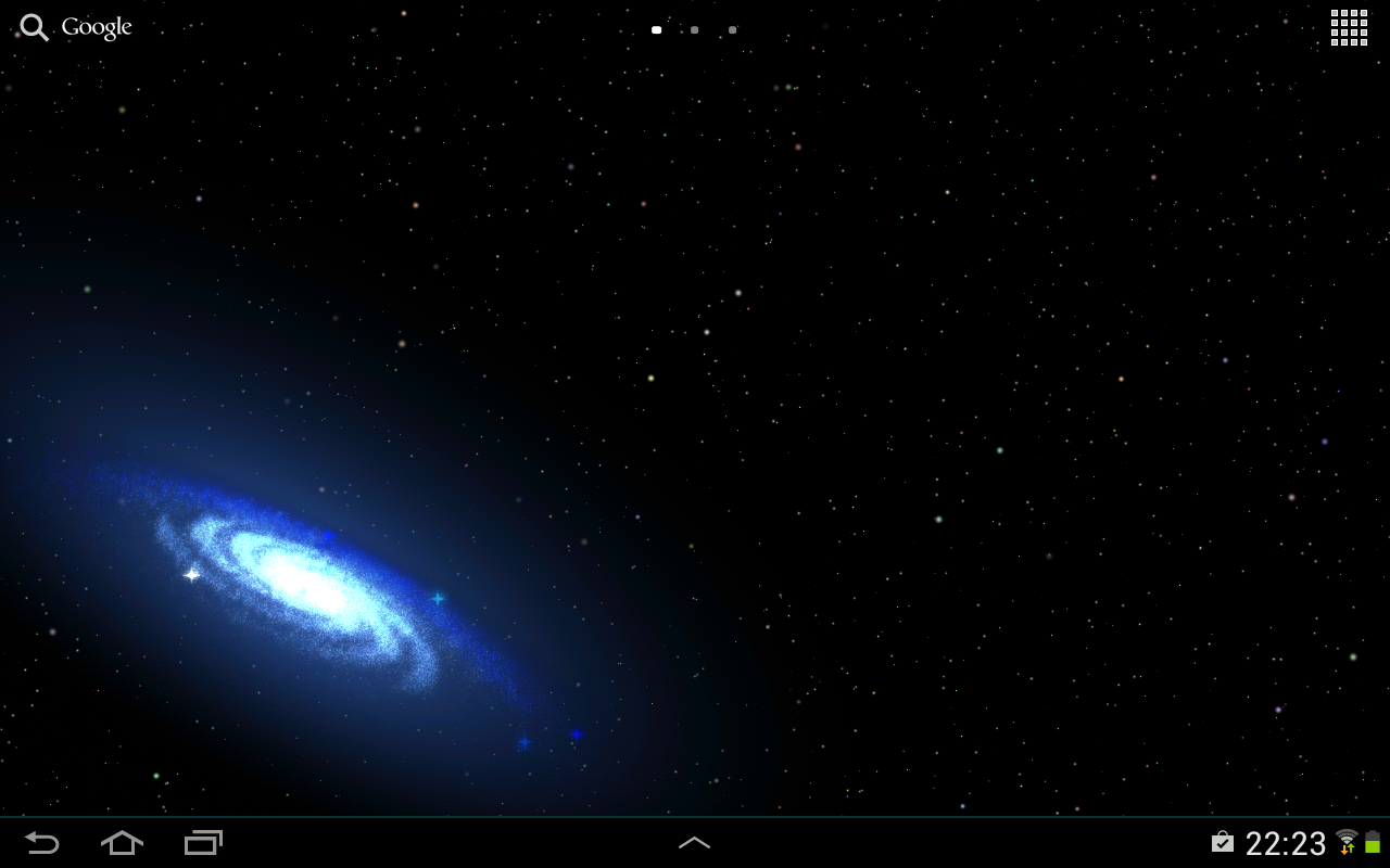 Space Galaxy Live Wallpaper Android 1280x800