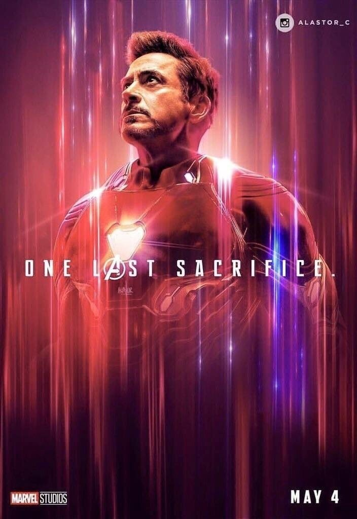Avengers Endgame poster 36 Iron Man on We Heart It 704x1024
